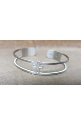 CROSS SILVER BANGLE