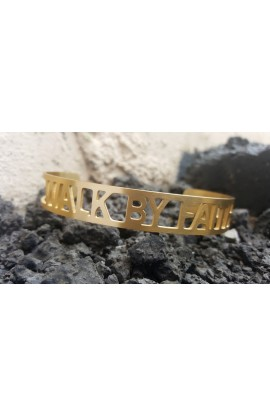 WALK BY FAITH GOLD BANGLE