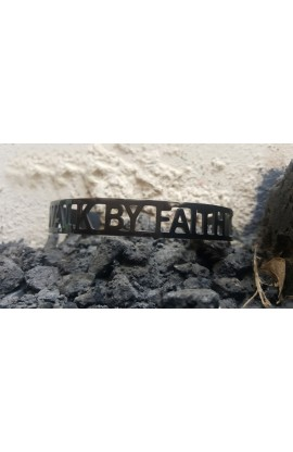 WALK BY FAITH BLACK BANGLE
