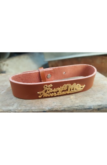 HE WILL NEVER LEAVE ME BROWN BRACELET
