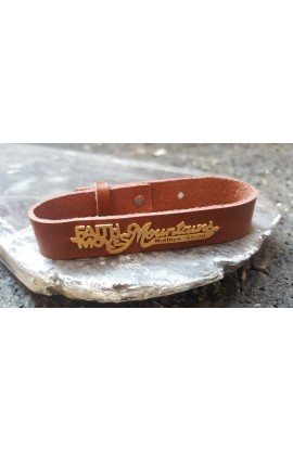 FAITH MOVES MOUNTAINS BROWN BRACELET