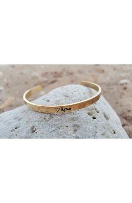 LOVE ARABIC THIN BANGLE GOLD
