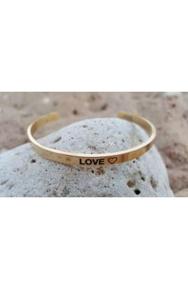 LOVE THIN BANGLE GOLD
