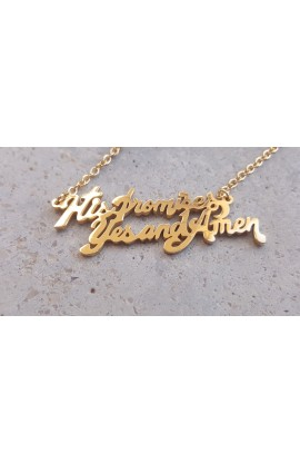 HIS PROMISES NECKLACE (GOLD)