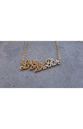 LOVE ONE ANOTHER NECKLACE (GOLD)