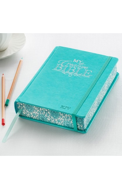 My Creative Bible KJV: Aqua Hardcover Bible