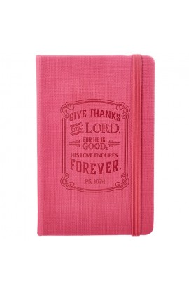 """Give Thanks"" FauxLeather Notebook Featuring Psalm 107:1"
