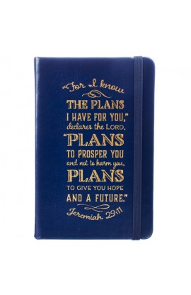 Jeremiah 29:11 | FauxLeather Notebook | Navy Blue with Gold Foil