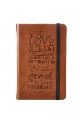 Lamentations 3:22 | FauxLeahter Notebook | Tan Brown