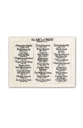 Plaque Wall Cast Stone Large ABC's of Faith