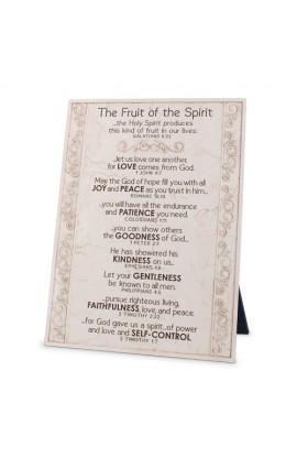 Plaque-Cast Stone-Fruit Of The Spirit