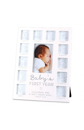 Frame Collage MDF White Thirteen Photo Baby's First Year
