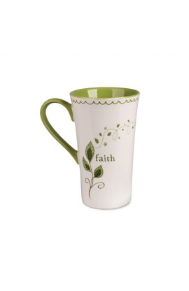 Ceramic Mug-Tall Latte-Faith-Growing Vine