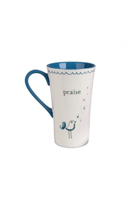 Ceramic Mug-Tall Latte-Praise-Bird