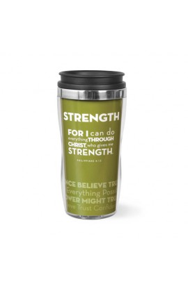 Tumbler Mug-Acrylic/Stainless Steel-Wavy-Strength