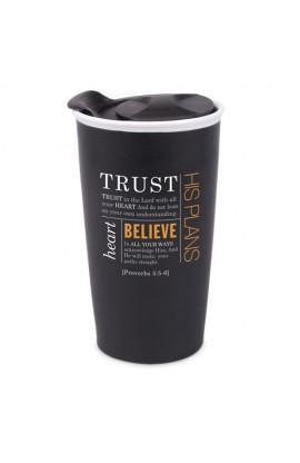 Tumbler Mug-Double Wall Ceramic-Blk-Trust