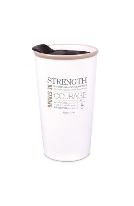 Tumbler Mug-Double Wall Ceramic-Cream-Strength
