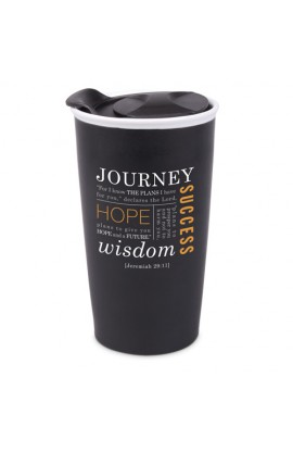 Tumbler Mug-Double Wall Ceramic-Blk-Journey
