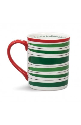 Christmas Mug Ceramic Believe and Rejoice Believe