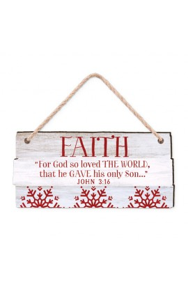 Christmas Ornament-MDF-Rustic Country-Faith