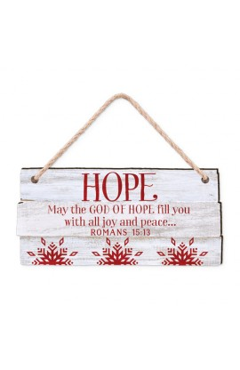 Christmas Ornament-MDF-Rustic Country-Hope