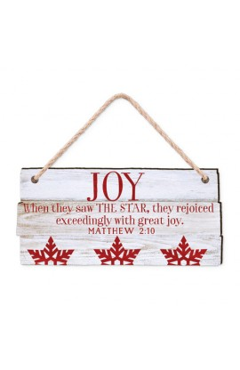 Christmas Ornament-MDF-Rustic Country-Joy