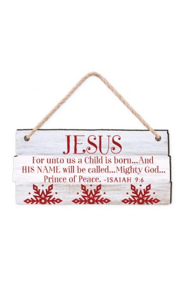 Christmas Ornament-MDF-Rustic Country-Jesus