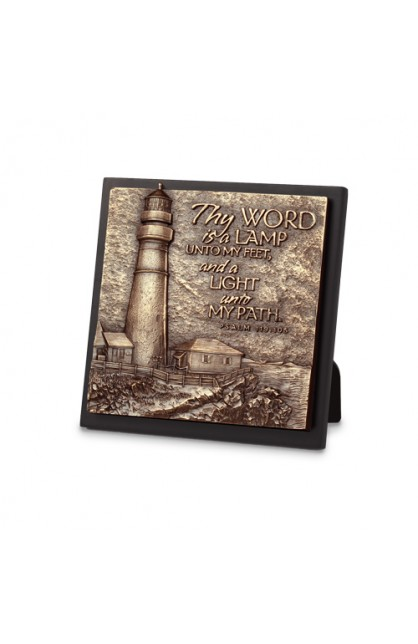 Plaque-Sculpture-Moments of Faith-Small Square-Lighthouse