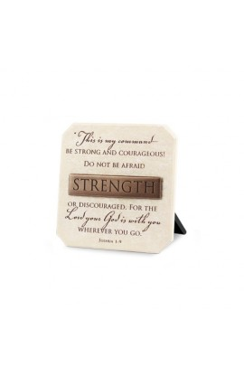 Plaque-Cast Stone-Bronze Title Bar-Strength