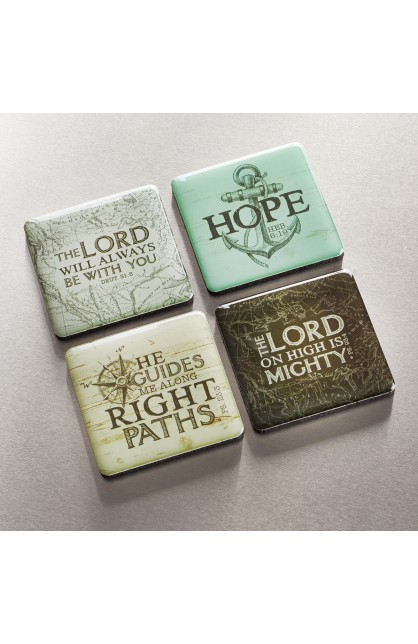 Magnet Set of 4 The Lord Will Be with You