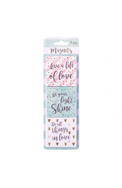 Magnet Set of 3 Live a Life of Love