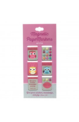 """Words of Wisdom"" Set of 6 Small Magentic Pagemarkers"