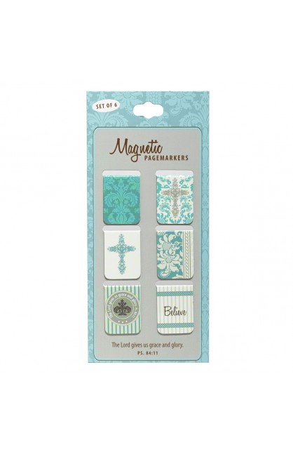 """Believe"" Set of 6 Small Magnetic Pagemarkers"