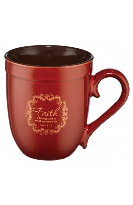 """Faith"" (Red) Stoneware Mug"