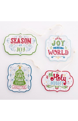 Gift Tag Set/16 Christmas Season Joy