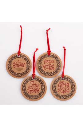 Gift Tag Set/16 Christmas Wreath