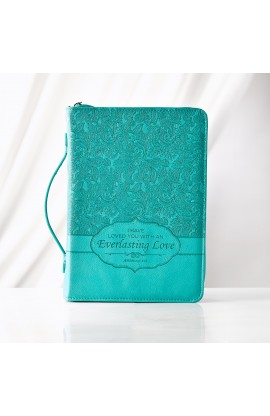 """Everlasting Love"" Bible Cover Featuring Jeremiah 31:3 (Medium)"