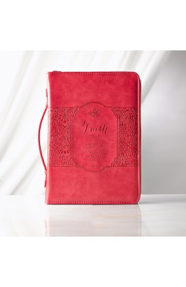 "Pink ""Faith"" Bible Cover (Medium)"
