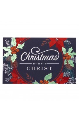 Pass Card Christmas Begins with Christ