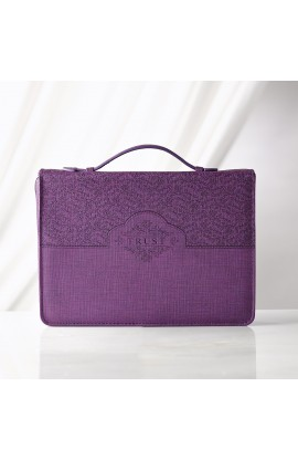 "Purple ""Trust"" Bible Cover (Medium)"