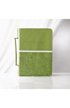 Lime Floral LuxLeather Bible Cover Featuring Jer. 29:11 (Medium)