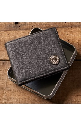 Wallet in Tin Leather Strong/Courageous