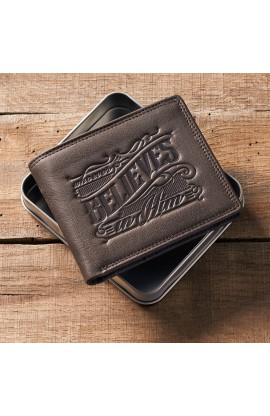 Wallet in Tin Leather Whoever Believes