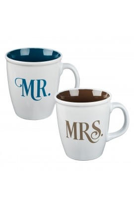 Mug Set 2pc Mr and Mrs