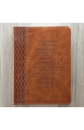 Tan Flexcover Journal Featuring Jeremiah 29:11