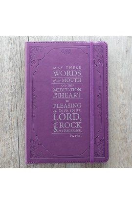 """The Words of my Mouth"" Flexcover Journal in Purple"