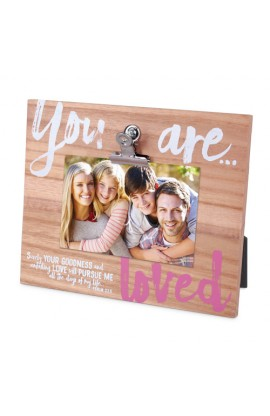 Frame Wood w/Metal Clip Identity You Are Loved