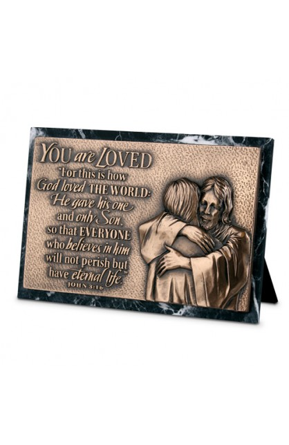 Plaque Sculpture Moments of Faith Rectangle Loved