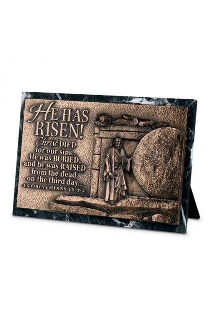 Plaque Sculpture Moments of Faith Rectangle Risen